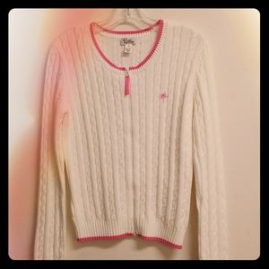 Lilly Pulitzer zip up sweater